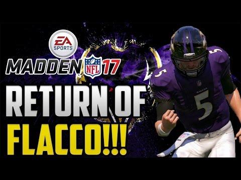 Madden 17 Baltimore Ravens Franchise Mode: Return Of Flacco! Ep 10 PS4