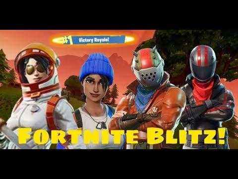 Winning Fortnite New Game Mode Blitz! | With Random Squad! | Feat - Sword