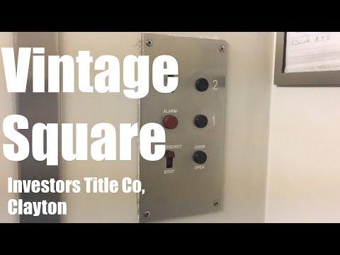 Vintage 1963 Square Hydraulic Elevator @ Investors Title Company, Clayton, MO