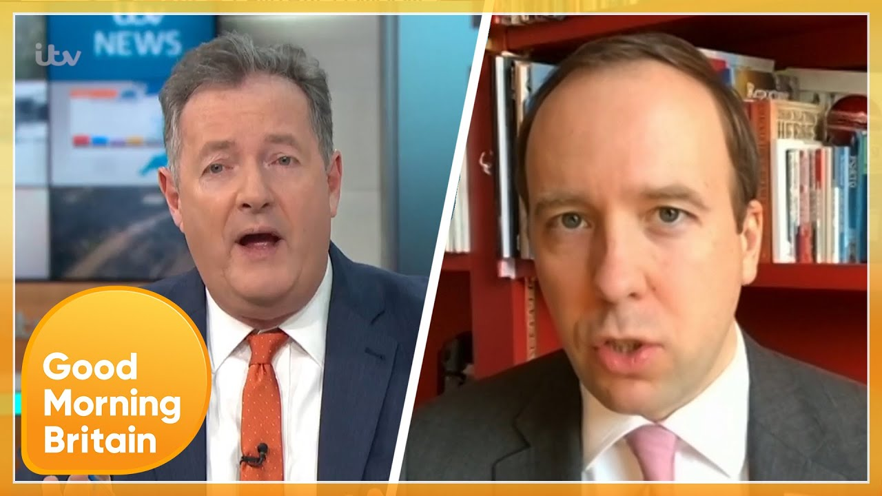 Worst Interview Ever Both Are Complete idiots..Piers Erupts as Matt Hancock