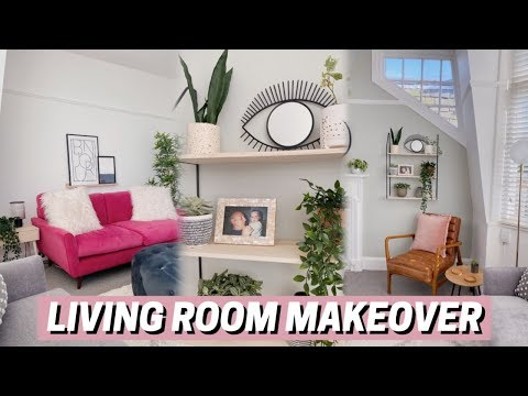 LIVING ROOM MAKEOVER 🌿 before + after