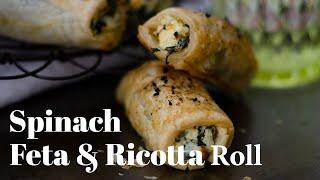 Spinach Feta Ricotta Rolls