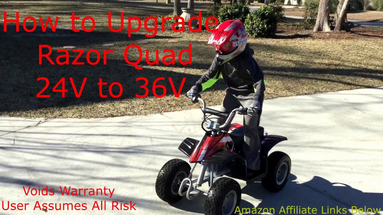 razor quad 4 wheeler battery 36v upgrade from 24v [ 1280 x 720 Pixel ]