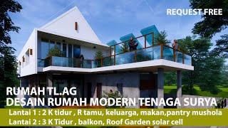 Low Energy House Design l Digital House Tour l Desain Rumah Tenaga Surya Hemat listrik