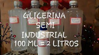 Como Fazer Glicerina Semi Industrial