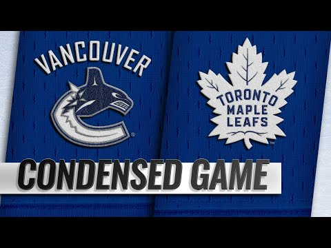 01/05/19 Condensed Game: Canucks @ Maple Leafs