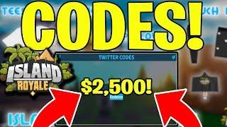 ISLAND ROYALE NEW CODES (ROBLOX) $2,500 BUCKS! 🔥 NOUVELLE MISE à JOUR MERCH!