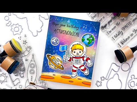 Far Out Friends Mini Slider Birthday Card