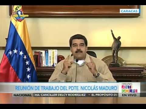 Maduro denuncia que Julio Borges hizo un llamado al golpe de Estado y ordena Plan Zamora
