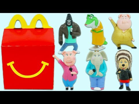 Sing Movie McDonalds Happy Meal Surprise Toys Opening with Real Singing Toys!