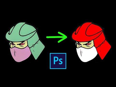 Как изменить цвет на картинке в фотошопе