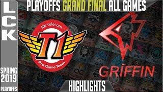 SKT vs GRF Highlights ALL GAMES | LCK Playoffs Grand Final Spring 2019 | SK Telecom T1 vs Griffin