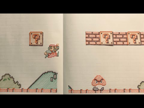 Kristin - Guy recreates Super Mario with hand drawn, stop motion animation! Cool!