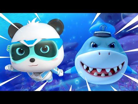 Sheriff Tibur贸n Est谩 Herido | S煤per Panda H茅roes | Dibujos Animados Infantiles | BabyBus