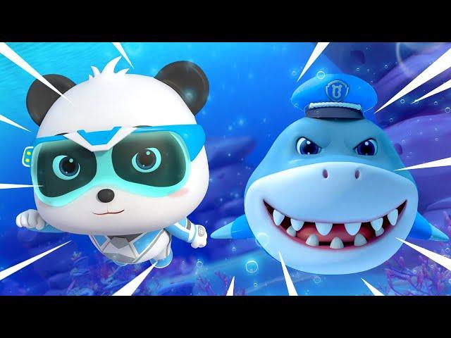 Sheriff Tiburón Está Herido   Súper Panda Héroes   Dibujos Animados Infantiles   BabyBus