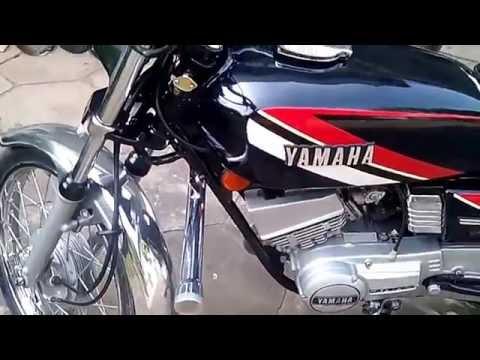 Arun's Yamaha RX100 restored 2016 .