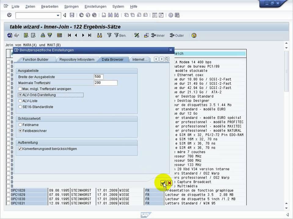 SAP se16XXL top flow table wizard - Einführung