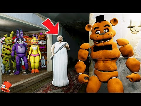 CAN BUFF FREDDY SAVE ALL THE ANIMATRONICS FROM GRANNY? (GTA 5 Mods For Kids FNAF RedHatter)