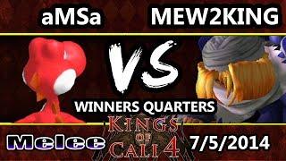 Kings of Cali 4 - Mew2King (Sheik, Fox) Vs. aMSa (Yoshi) - Winners Quarters