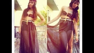 DIY Sheer Maxi Skirt #DIYGawd