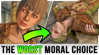 Skyrim – The Most Evil Moral Choice We All Made!