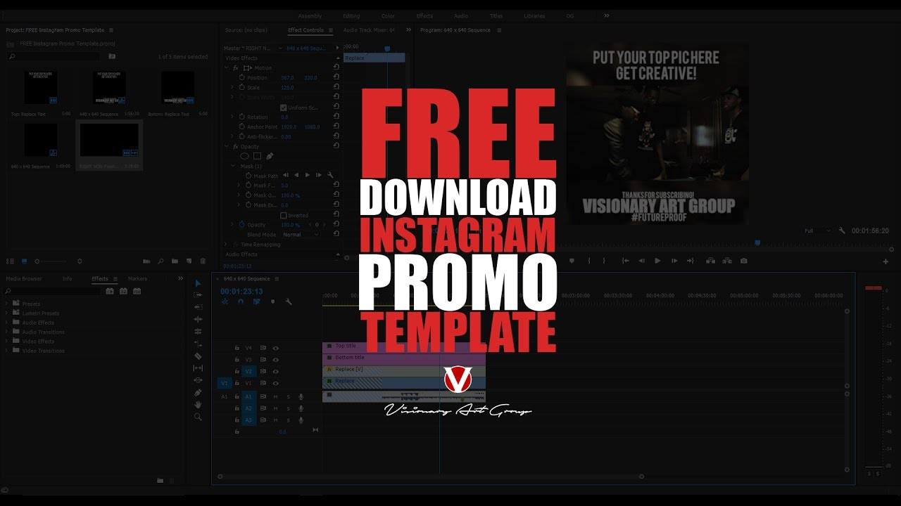 free template instagram promo video file
