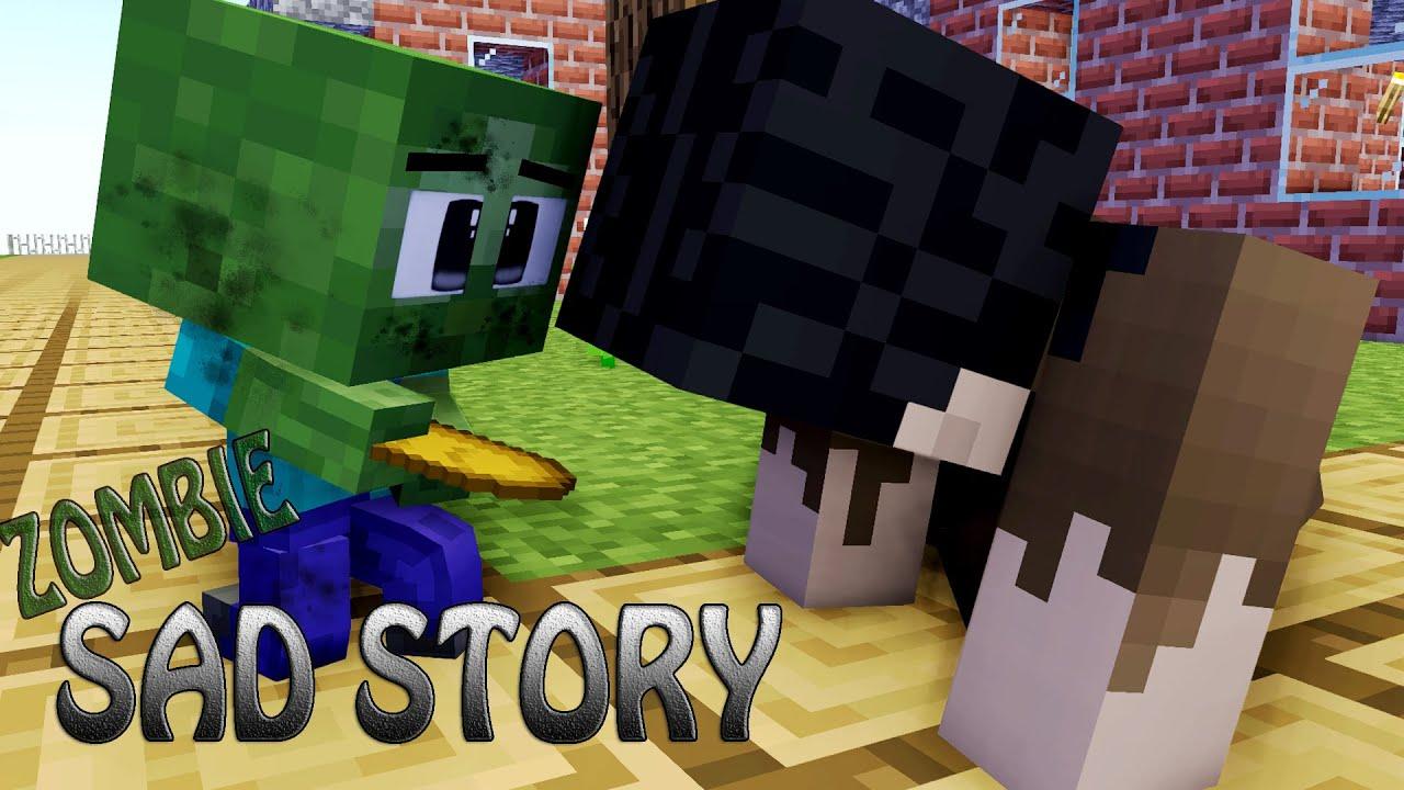 Sad story Poor Baby zombie - Monster school - Minecraft Animations