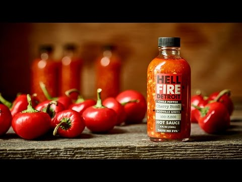 "Hell Fire Detroit ""Cherry Bomb"" Hot Sauce Review"