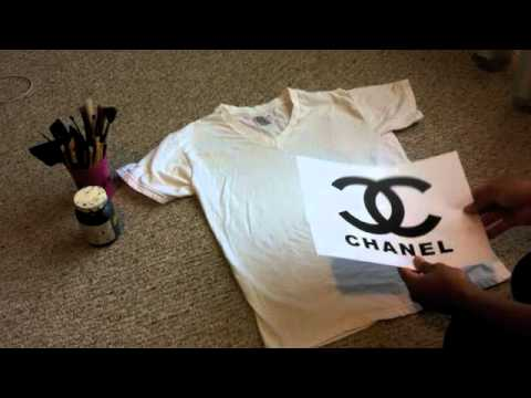 1cfd12c2b713 DIY| How to make a Chanel logo Shirt - YouTube