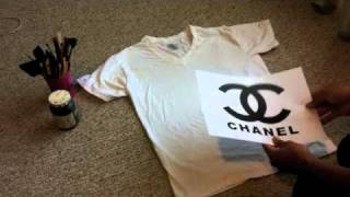 DIY| How to make a Chanel logo Shirt
