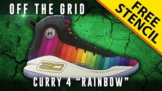 """Off The Grid: Curry 4 """"Rainbow"""" w/ Downloadable Stencil"""