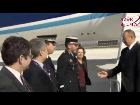 Azərbaycan Prezidenti İlham Əliyev Fransaya rəsmi səfərə gəlib