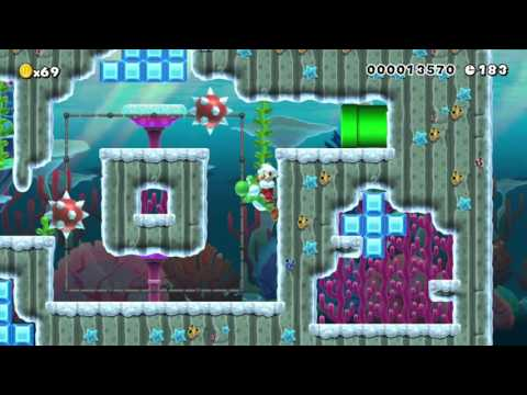 Mario's travel 3-1 Frozen Fish by Tricky - Super Mario Maker - No Commentary