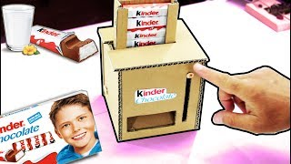 👱 Wow! Amazing DIY Kinder Chocolate Cardboard Dispenser 👱