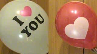 Прикольные воздушные шарики одни с сердечком, а другие с надписью  Две посылки из Китая