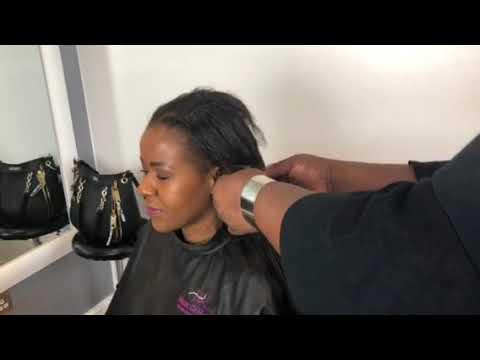 Amazing Brazilian knot thin relaxed hair Yaki hair