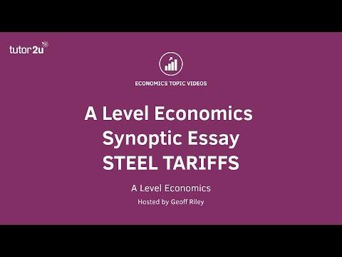 Steel Tariffs (Edexcel 25 Mark Essay Question)