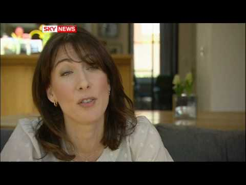 Political Leaders Wheel Out The Wives: Samantha Cameron's TV Debut