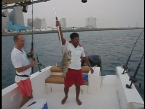 Fishing Adventures #27 - Trolling for Hammour at Abu Dhabi's Port Mina Zayed