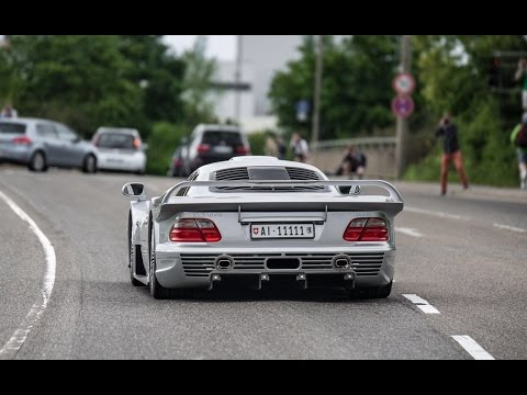 Mercedes Clk Gtr Amg Clk Dtm Together On The Road In Stuttgart