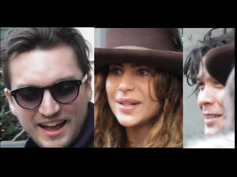 Richard Harmon, Nadia Hilker, Bob Morley and cast / The 100 @ Paris 24 february 2018