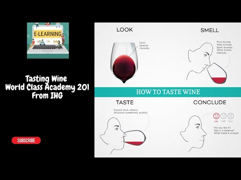 World Class Academy 201 From IHG Tasting Wine