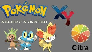 How To Fix Pokemon X or Y Game Freeze and Select Starter (Easy) Citra Emulator