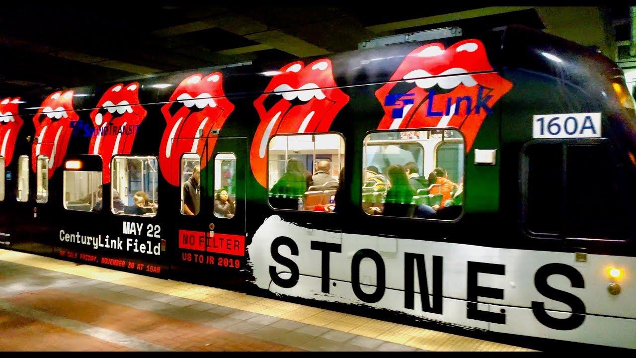 18bd8a8fa64740 Rolling Stones Concert US No Filter Tour 2019 Link Light Rail Train Car  Seattle
