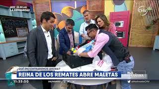 Reina de los Remates abrió sus maletas en La Mañana   LA MAÑANA