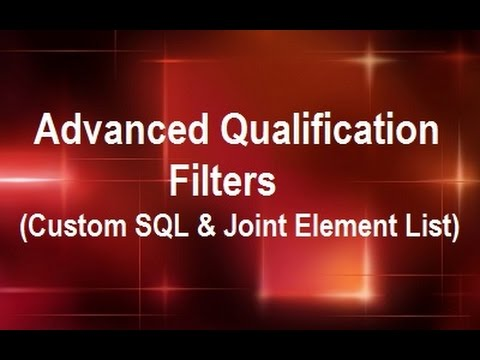 MicroStrategy - Advanced Qualification Filters (Custom SQL & Joint Element List) - by MicroRooster