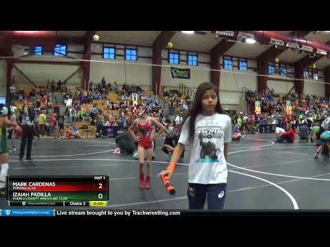 Middle School 77 Mark Cardenas Pomona Elite Vs Izaiah Padilla Pueblo County Wrestling Club