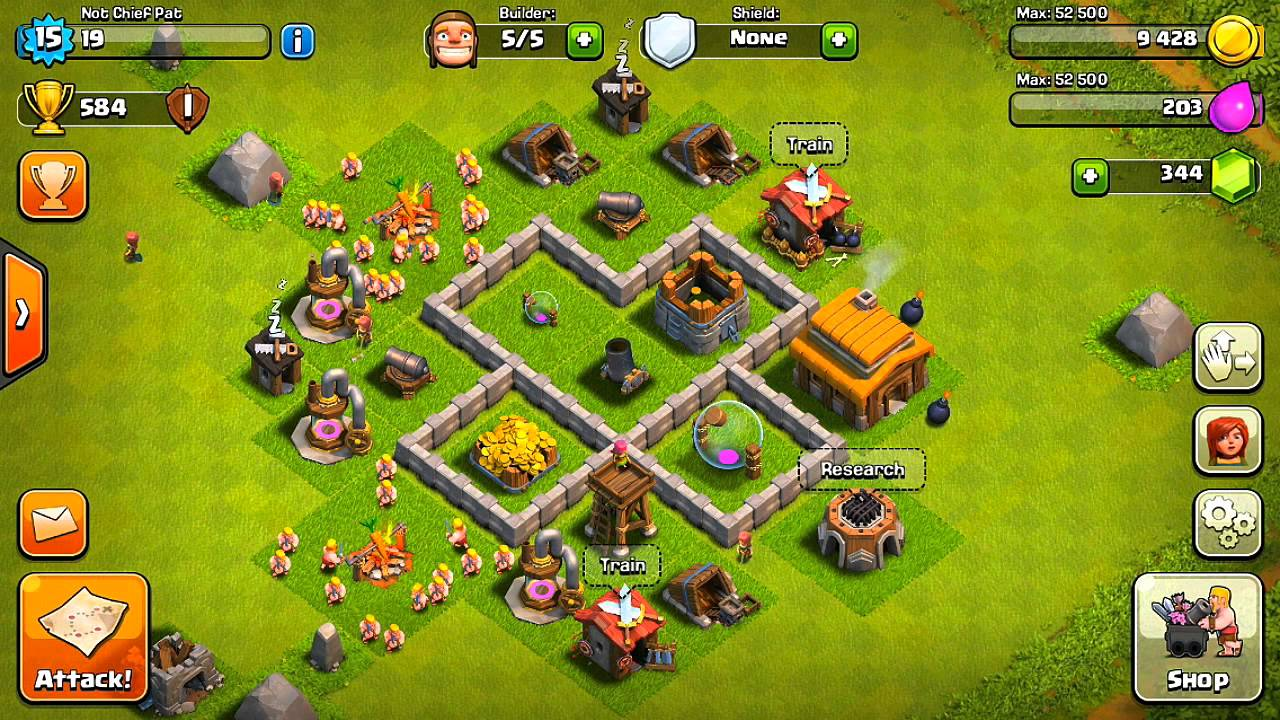 Clash of clans best town hall 3 defense base design youtube