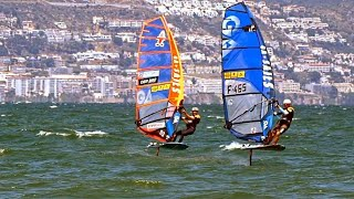 PWA - exciting Foil Windsurfing Final Elimination 4 – Day 2 PWA World Cup Costa Brava 2018