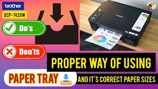 Proper way of using Paper Tray…